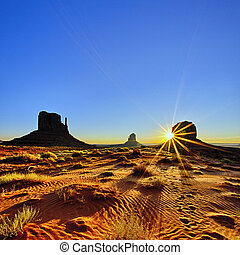 Monument Valley at sunrise, USA