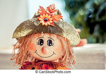 Autumn doll - Cute doll on autumn style for home decoration