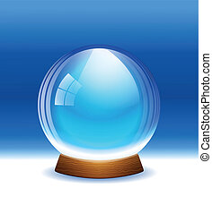 Vector empty transparent snow globe - A vector illustration...