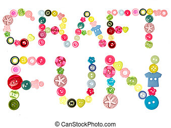 Craft fun words - The words Craft Fun spelt out with buttons