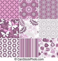 Set pastel seamless patterns