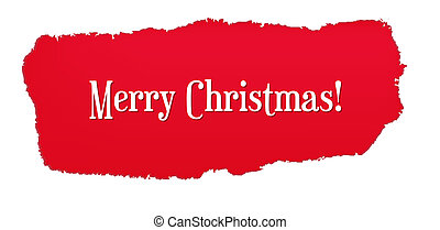 Red Paper Hole With Christmas Text