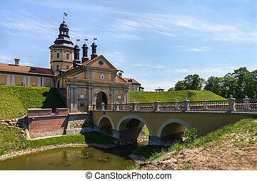 Castle in Nesvizh, Belarus - Medieval castle in Nesvizh,...