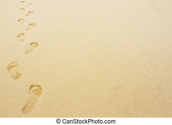 footprints in the sand background - Footprints in the sand...
