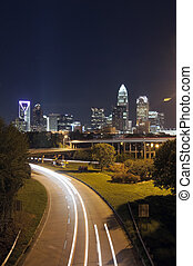Charlotte the queen city financial district view from...