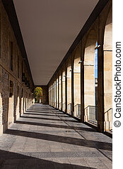 The arches avenue, Vitoria, Alava, Basque Country, Spain