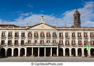 City council, New square, Vitoria, Alava, Basque Country,...