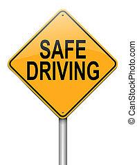 Safe driving concept. - Illustration depicting a roadsign...