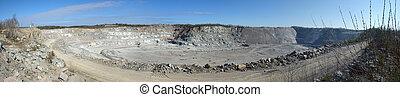 Granite mine in Karelia