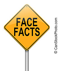 Face facts. - Illustration depicting a roadsign with a face...