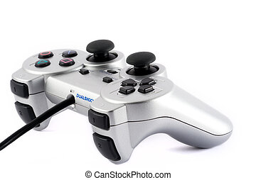 Game pad - Silver game pad on white background