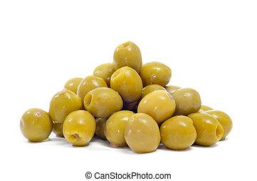espagnol, dénoyauté, olives