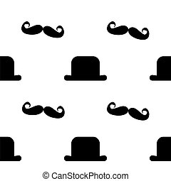 Mustache Like a Sir_Seamless Tile_stock - A fun seamless...