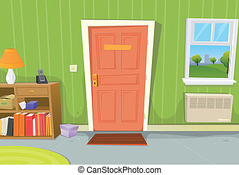 cartoon-old-school-teacher - Illustration of a cartoon home...