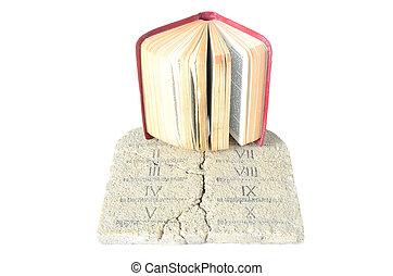 biblia, tabletas, ley