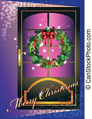 card with open door