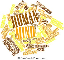 Word cloud for Human Mind - Abstract word cloud for Human...