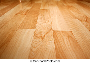 Wooden laminated floor - Close up detail of a beautiful...