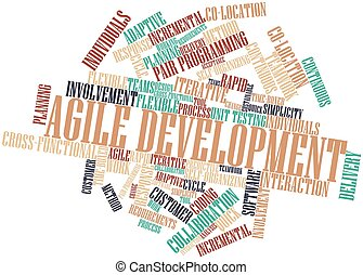 Word cloud for Agile Development - Abstract word cloud for...