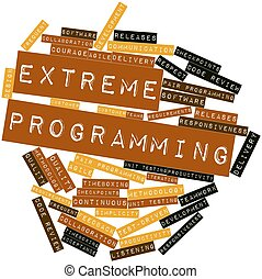 Extreme Programming - Abstract word cloud for Extreme...