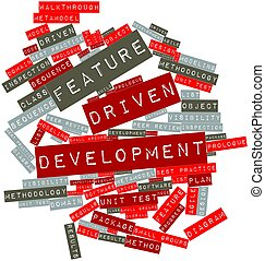 Feature Driven Development - Abstract word cloud for Feature...