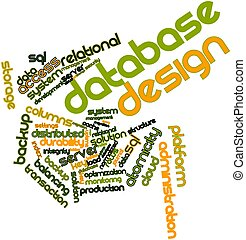 Word cloud for Database Design - Abstract word cloud for...