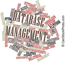 Word cloud for Database Management - Abstract word cloud for...