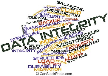 Data Integrity - Abstract word cloud for Data Integrity with...