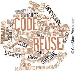 Code Reuse - Abstract word cloud for Code Reuse with related...