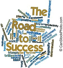 Word cloud for The Road to Success - Abstract word cloud for...