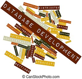 Database Development - Abstract word cloud for Database...