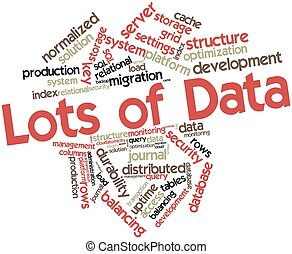 Lots of Data - Abstract word cloud for Lots of Data with...
