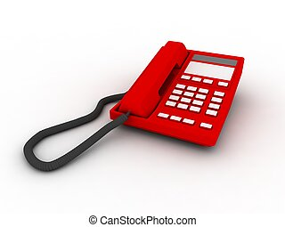 Red phone isolated
