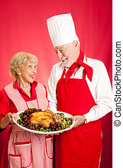 Chef and Homemaker with Holiday Dinner - Chef and homemaker...