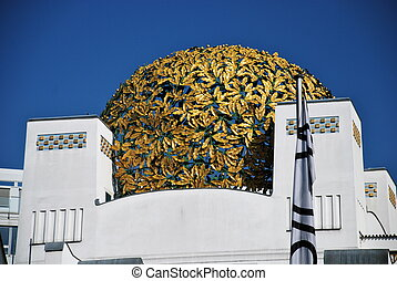 Detail of Secession hall, Vienna - Located in Vienna, The...
