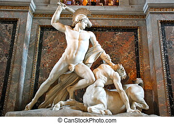 Theseus Fighting the Centaur by Ant - Theseus Fighting the...