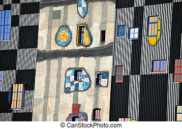 Hundertwasser district heating plan - Friedensreich Regentag...