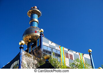 hundertwasser, district, heizung, Plan