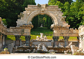 Roman ruins, Schonbrunn park - Originally known as the Ruin...
