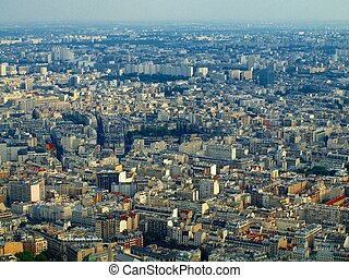 View from Eiffel tower to the Paris city