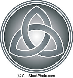 celtic trinity knot vector illustration