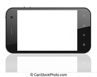 Beautiful smartphone on white background. Generic mobile...