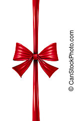 Red Vertical Ribbon Bow