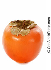 persimmon - picture of Persimmon fruit on white background.