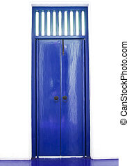 Blue chinese door style