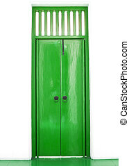Green chinese door style