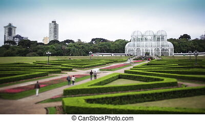 Time-Lapse of Botanical Gardens - Time-Lapse video of...