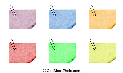 post - isolated blank color paper post it or postit where...