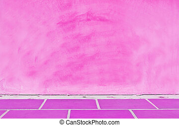 Pink wall background