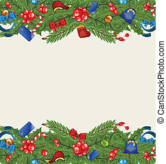 Christmas elegance background with holiday decoration -...